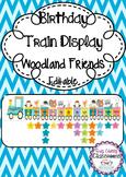Birthday Train Display Woodland Friends - Editable