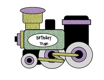Birthday Train - Glitter Theme