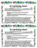 Birthday Treat Note