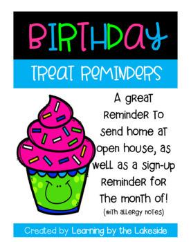Birthday Treat Reminder