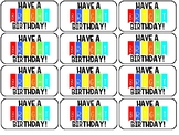 Birthday Treat Tags