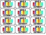 Birthday Treat Tags