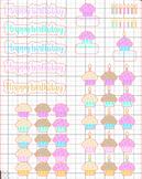 Birthday Treats Planner Stickers