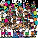 Birthday Verbs Clipart {Birthday Clipart}