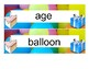 Birthday Vocabulary and Activities