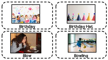 Birthday Vocabulary and Mini Book (40 Flashcards, 1 Book) *FREEBIE*
