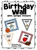 Birthday Wall Decorations-Sports Theme