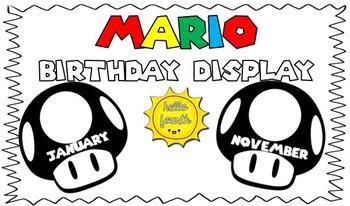 Birthday Wall Display Mario Theme