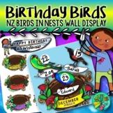 Birthday Wall Display - NZ Birds in Nests