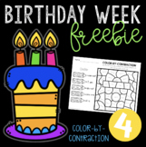 Birthday Week Freebie #4 - Color-by-Contraction