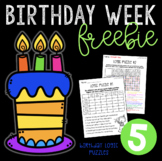 Birthday Week Freebie #5 - Birthday Logic Puzzles