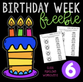 Birthday Week Freebie #6 - Analog and Digital Clock Matchi