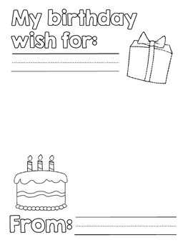 Birthday Wish Book