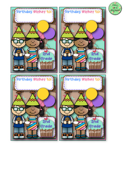 Birthday Wish Book Covers for Mini Notebooks
