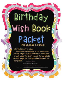 Birthday Wish Booklet