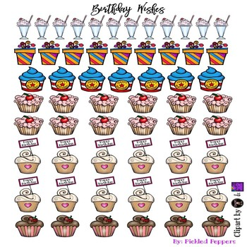 Birthday Wishes Happy Planner Stickers