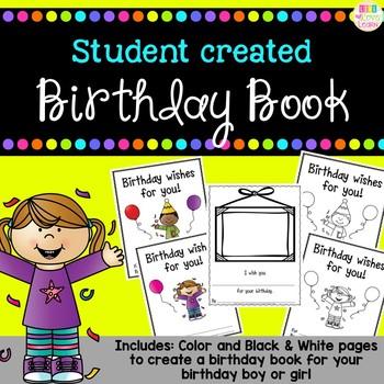 Birthday Wishes - A birthday book {freebie}