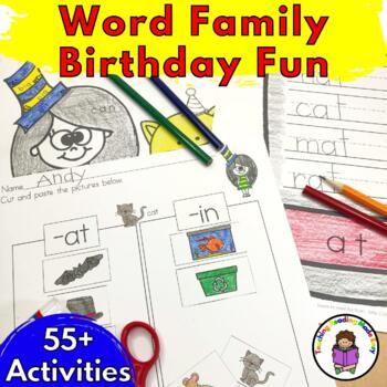 Seuss Day for Kindergarten!  Word Family Worksheets & More