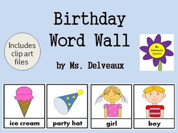 Birthday Word Wall and Clip Art