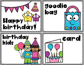 Birthday Write the Room