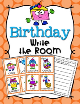 Birthday Write the Room Activity