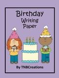 Birthday Writing Paper