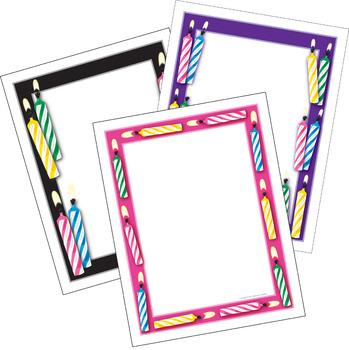 Birthday Writing Paper - 3 Designs