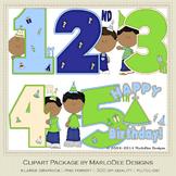 Birthday Years Boys Clip Art Graphics Set 2 by MarloDee Designs