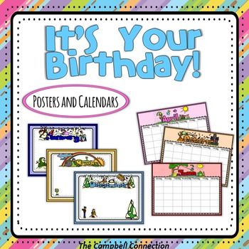 Birthday and Calendar Posters