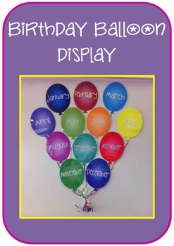 Birthday balloon display