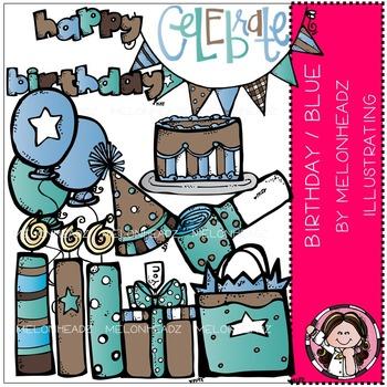 Birthday clip art - Blue - COMBO PACK- by Melonheadz