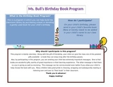 Birthday book program flier