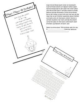 Birthday book/Birthday letters