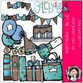 Melonheadz: Birthday clip art - Blue