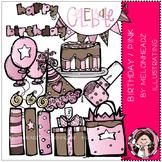 Melonheadz: Birthday clip art - Pink