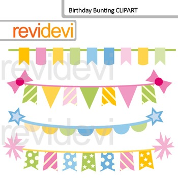 Birthday bunting clip art