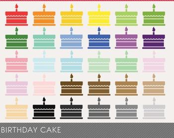 Birthday cake Digital Clipart, Birthday cak Graphics, Birthday cak PNG