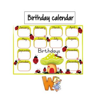 Birthday calendar - ladybug