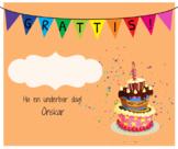 Birthday card sweden