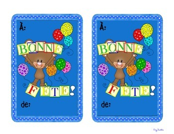 Birthday cards french bonne fete by peg swift french immersion tpt birthday cards french bonne fete m4hsunfo
