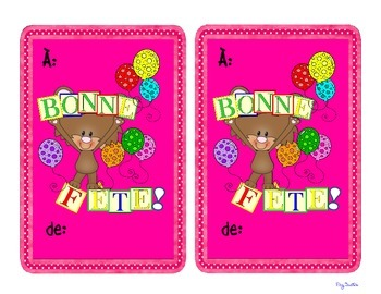 Birthday Cards French Bonne Fete