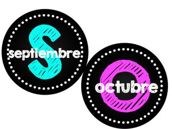 Birthday chart in Spanish- Cumpleaños