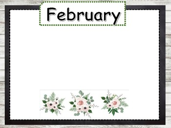 Birthday chart (shabby chic, greenery, eucalyptus design)