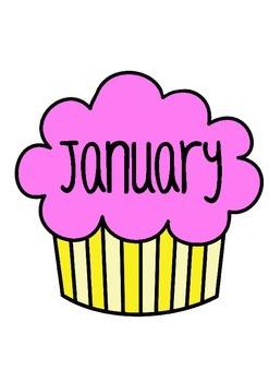 birthday cupcake chart: Birthday chart by mrs edgar teachers pay teachers