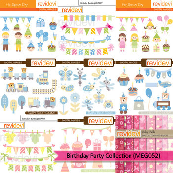 Birthday clip art mega bundle