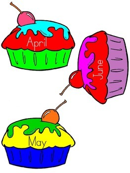 Birthday cupcakes (Months of the year)