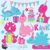 Birthday dinosaurs clipart commercial use, vector, digital - CL798