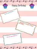 Birthday letter class activity