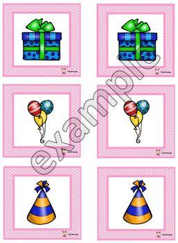 Birthday memory game