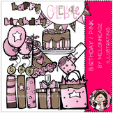 Birthday clip art - Pink - COMBO PACK- by Melonheadz